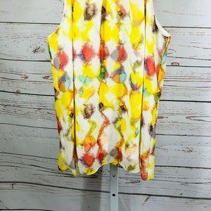 Ann Taylor Tops - Ann Taylor Sleeveless Print Blouse size 6